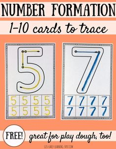 Practice 1-10 number formation with these free cards.