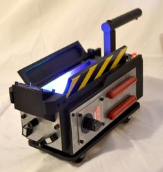 Ghostbusters Ghost Trap With Animated Projecting Lights & Pedal by FanbiltProps on Etsy