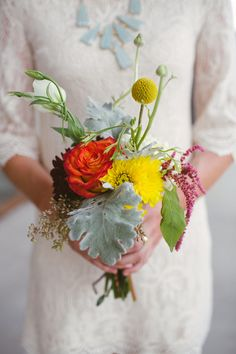 petite bridesmaid bouquet // photo by Kat Bevel // flowers by Exquisite Petals