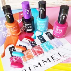 Rimmel London Super Gel Nail Polish | Two-Step Gel System For Salon-Style Nails