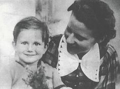 YSL when he was 4 years old with his mother  Lucienne Mathieu-Saint Laurent