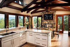 Incredible cabin kitchen in British Columbia, Canada