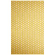Shop for Petit Collage Flatweave Tribal Pattern Yellow/Ivory Cotton Area Rug (5x8). Get free shipping at Overstock.com - Your Online Home Decor Outlet Store! Get 5% in rewards with Club O!