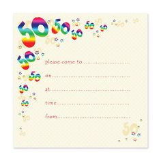 Fifty 50th Birthday Invitation Templates DIY printable template ...