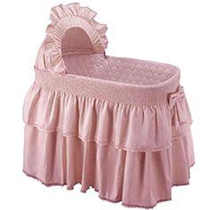 Baby Doll Paradise Rainbow Bassinet Bedding Set, Pink #BabyDollBedding
