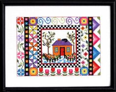 Purple Hibiscus Flower Cross Stitch Chart Bobbie G Designs  PRICE REDUCED