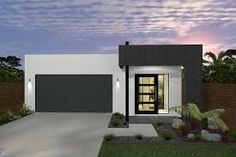The Harrison Contemporary plan features 3 bedrooms, 2 bathrooms, 2 carspaces and a total floor area of can purchase this house plan from I Want That Design and get building much sooner. Flat Roof House Designs, Small House Design, Modern House Design, House Plans Australia, Modern House Facades, Home Design Plans, Plan Design, Box Houses, Australian Homes
