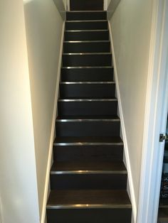 Amtico Signature Wenge Wood with Stairrods new LVT noses in pewter By www.floorcraft.uk.com