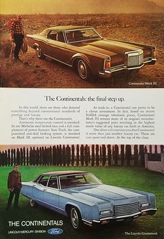 1970's Lincoln Continental and Mark III Vintage Ad