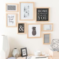 Dekoration Wohnung - Composición de cuadros - Sıdıka - Welcome to the World of Decor! Bedroom Decor, Wall Decor, Wall Art, New Room, Frames On Wall, Diy Home Decor, Sweet Home, Gallery Wall, Interior Design