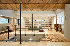 a kenban is a traditional gathering space for geishas after bathing in hot springs. this blend of old and new can be seen in the renovated three-storey home.
