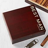 Buy personalized cigar humidors with glass top made to fit up to 50 cigars. Add any text o be engraved on the glass. Free personalization & fast shipping.