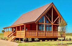 Where do we start when this 24′ x 40′ log home kit has everything to offer? The first thing you will notice are the dramatic cathedral ceilings which create a truly open feeling. The great room has plenty of space to relax and adding a cozy fireplace is a wonderful option. You will enjoy the floor to ceiling windows and the L-shaped covered porch to truly experience the view. Click to step right up and see for yourself! Prefab Log Homes, Prefab Cabins, Modern Prefab Homes, Log Cabin Homes, Prefab Cabin Kits, Cabin Kits For Sale, Log Cabin Home Kits, Small Log Cabin Kits, Log Cabins For Sale