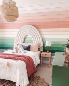 Big Girl Bedrooms, Girls Bedroom, Bedroom Decor, Project Nursery, Rainbow Room, Childrens Room Decor, Kids Room Design, Ship Lap Walls, New Room