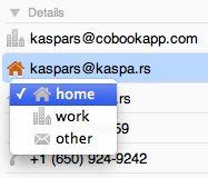 Cobook Address Book App for Mac