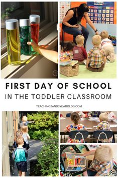 for toddler classroom ideas for the first day of school? Check out the activities we\'ve set up for back to school!Looking for toddler classroom ideas for the first day of school? Check out the activities we\'ve set up for back to school! Preschool First Day, Preschool Rooms, First Day Of School Activities, Toddler Preschool, Preschool Activities, Children Activities, Toddler Learning, Trinity Preschool, Preschool Transitions