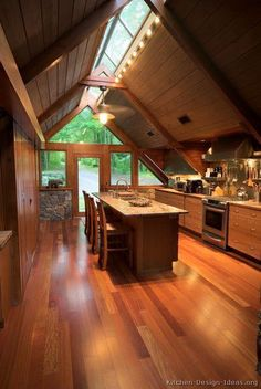 Architecture & Interior Design Stunning Wooden Kitchen Design