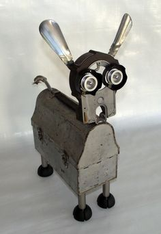 Robot DogBELL he likes to HowellJunk Art by butcherooney on Etsy, $99.00