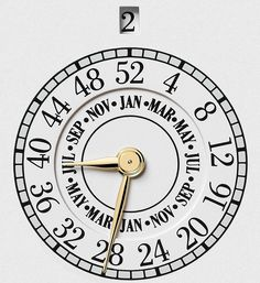 The ISO 8601 calendar measures each year based on a set of 52 weeks and 7 days, with the days marked by numbers one to seven