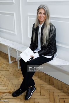Sarah Harris attends the J. W. Anderson show during London Fashion Week Autumn/Winter 2016/17 at Yeomanry House on February 20, 2016 in London, England.