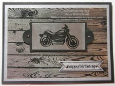 """Stampin' Up! Australia - Sue Mitchell: Male Birthday cards """"Rev Up The Fun"""" Stampin' Up! stamp set."""