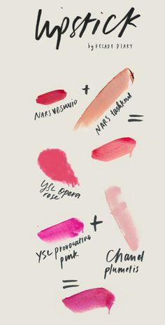 Lipsticks to love. NARS, Chanel, YSL #Luxury