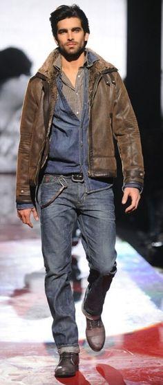#Leatherjacket #bluejeans #mensfashion