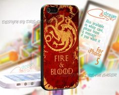 Fire and Blood Targaryen - Print On Hard Case For iPhone 5 Case