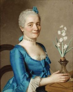 """Jean-Etienne Liotard (Swiss-French artist, 1702-1789) Lady with a Jonquil 1750-59"""