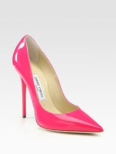hot pink patent jimmy choo heel...amazing day to evening shoe and quick way to bring in color!