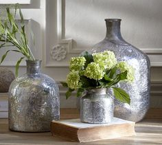 Washed Mercury Vase | Pottery Barn