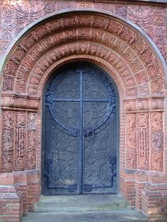 Watts Mortuary Chapel Door located in the village of Compton in Surrey photography by Susan Knights