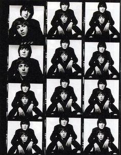 David Bailey photo session with John Lennon and Paul McCartney Foto Beatles, Les Beatles, Beatles Bible, Ringo Starr, George Harrison, David Bailey Photography, Vogue Magazin, John Lennon Paul Mccartney, Contact Sheet