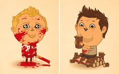 Shaun & Ed - Shaun of the Dead - Mike Mitchell