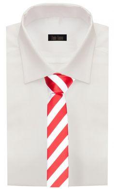 Krawatte schmal rot weiß gestreift von Fabio Farini: Amazon.de: Bekleidung