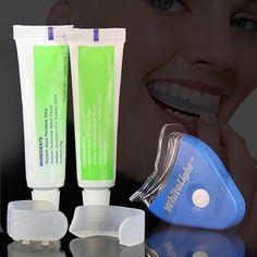 Kit de Cuidado de la Higiene Oral Dental 3D Luz Blanca Blanqueador de Dientes Fácil Blanco de Los Dientes Limpios Blanqueamiento Blanchiment Dent Personal