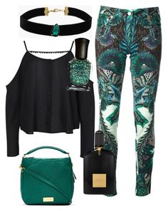 greeeen by mias-fashion101 on Polyvore featuring polyvore, fashion, style, Boohoo, Roberto Cavalli, Marc by Marc Jacobs, Topshop, Tom Ford, Deborah Lippmann, women's clothing, women's fashion, women, female, woman, misses and juniors