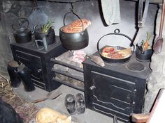 19th century kitchen range