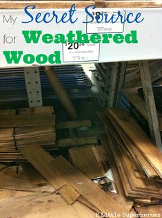 This is a great tip! Where to find inexpensive weathered boards to use for craft projects. www.2littlesuperheroes.com