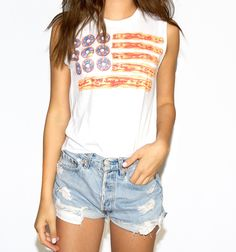 Bacon Flag Tee - Shop Now on NYLONshop: http://shop.nylonmag.com/collections/whats-new/products/bacon-flag-tee