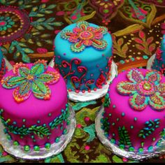 Henna cakes! Such bold and beautiful colors