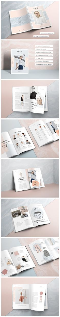- LUCIE Marble Lifestyle Magazine by Ruby&Heart Studio on Creative Market - Introducing: Lucie Marble Lifestyle Magazine + FREE Marble Texture (T. 3d Christmas, Invitation, Clip Art, File Image, Marble Texture, No Photoshop, Magazine Template, Creative Sketches, Paint Markers