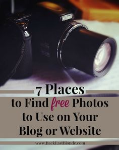 7 Places to Find FREE photos to use on your blog or website.... this post couldn't be more helpful.