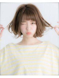 【Euphoria】大人かわいいフリンジバングボブ☆タンバルモリ - 24時間いつでもWEB予約OK!ヘアスタイル10万点以上掲載!お気に入りの髪型、人気のヘアスタイルを探すならKirei Style[キレイスタイル]で。