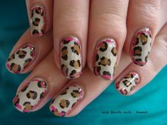Nail art, leopard print, framing, cowboy theme. This manicure was inspired by one of my little sister's shirts. It ended up a little more western than I intended but I kind of love it.