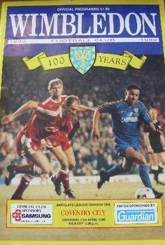 21 April 1990 v Wimbledon Drew 0-0 Coventry City Fc 758baf8d2