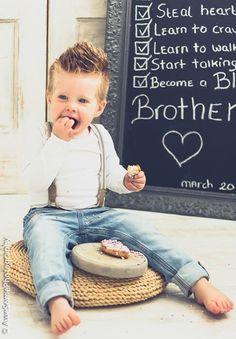 Geboorte aankondiging, grote broer