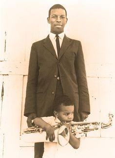 Ornette Coleman with his son Denardo Сoleman