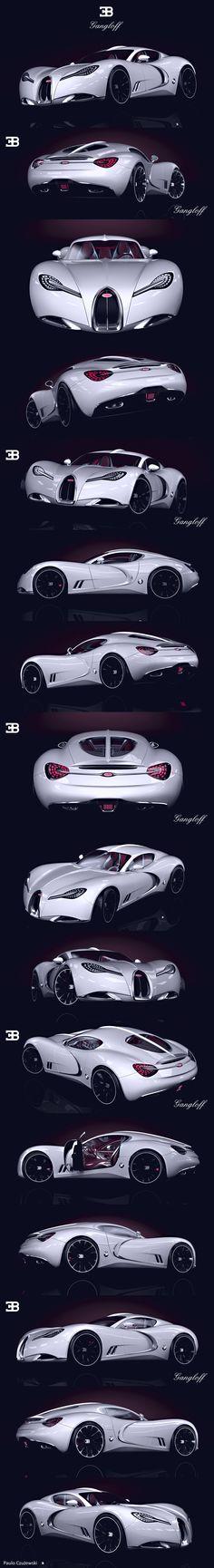 Pojazd 3d: Invisium Concept Car , Bugatti Gangloff