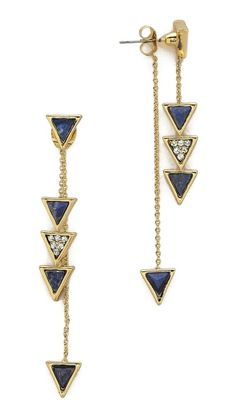 House of Harlow 1960 Traingle Trellis Drop Earrings